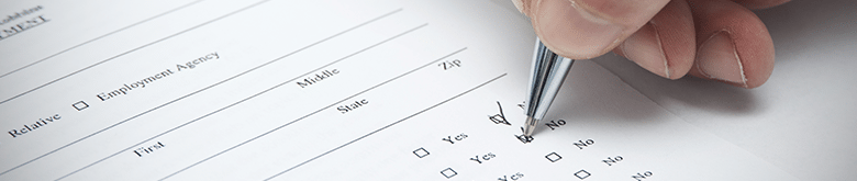 Filling out a survey at your veterinary practice